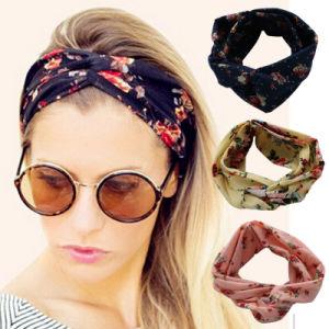 Haimeikang Turban Headwrap Floral Prints Bandanas Korean Elastic Hairwrap Gum Hair for Girls Hair Accessories for Women
