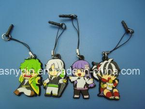 Soft PVC Cartoon Phone Strap Pendant pictures & photos