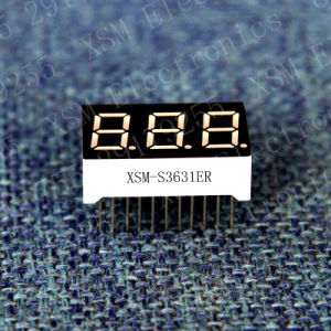 0.36′′ 3 Digit 7 Segment LED Display (XSM-S3631ER)
