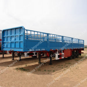 Tri-Axle 40 Ton Capacity Stake Semi-Trailer/Fence Truck Trailer pictures & photos