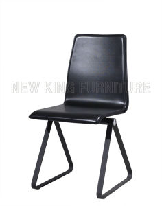 Modern Cheap Paint Steel Foot PU Leather Dining Chair (NK-DC069)