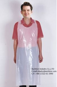 Disposable Clear Plastic Aprons pictures & photos