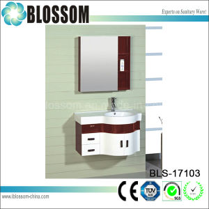 Ready to Assemble Wall Side PVC Bath Cabinet (BLS-17103) pictures & photos