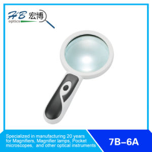 Retractable Double-Magnification Handheld Magnifier with 2 LED pictures & photos