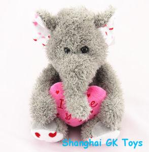 Plush Valentine Elephant Stuffed Plush Elephant Animal Toys pictures & photos