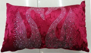 Hand-Made Decorative Pillow Diamond Ironing Decorative Cushion (XPL-60) pictures & photos