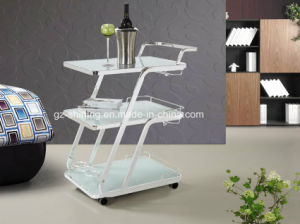 Hot Selling Glass Trolley with Handle (FD-227) pictures & photos