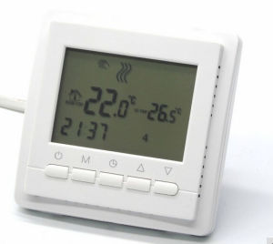 EU Programmable Radiant Floor Thermostat with Double Sensor pictures & photos