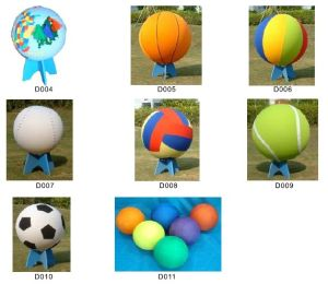 Sports Ball, Bouncing Handball, Basketball, Vollyball, Educational Ball With Holder (D004--D011)