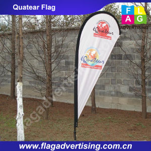Outdoor 100% Polyester Bow Flag Teardrop Banner
