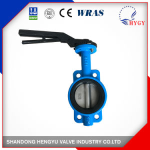 Wafer Type Butterfly Valve with Single Shaft pictures & photos