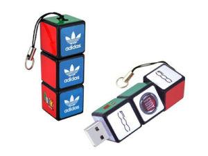 Three Rotating Rubik′s Cube USB Flash Drive pictures & photos