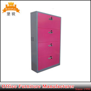 Popular Metal Home Furniture Modern Simple 4 Door Metal Shoe Storage Cabinet pictures & photos