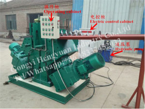Continues Screw Conveyor Flight Making Machine pictures & photos