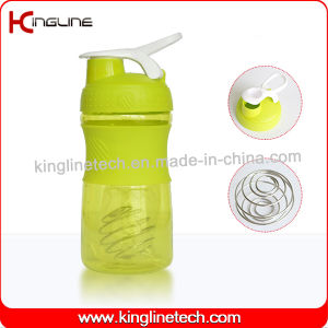 500ml Plastic Protein Shaker Bottle with Stainless Blender mixer Ball (KL-7064) pictures & photos