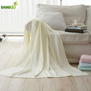 Top Quality Plain Color 100% Organic Cotton Blanket pictures & photos