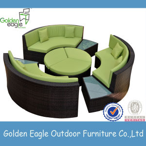 Wicker Furniture Round Shap Sofa Patio Furniture pictures & photos
