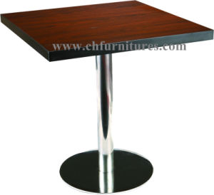 Round Stainless Base Square Banquet Table (YC-T27) pictures & photos