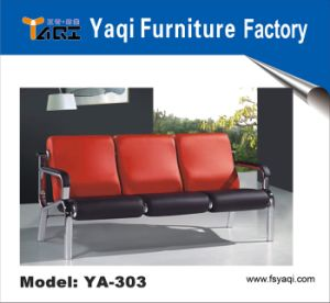 Orange Leather Barber Waiting Sofa ,Leisure Sofa (YA-303) pictures & photos