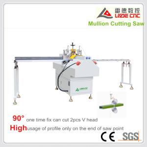 UPVC Windows Machine Mullion Cutting Machine V Shape Cut Double Mitre Saw pictures & photos