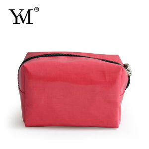 China Wholesales Promotional Red Coated Canvas Cosmetic Bag pictures & photos