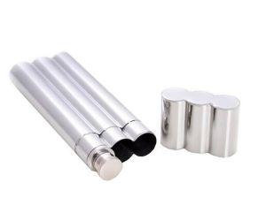 2oz Exquisite Food Grade Stainless Steel Cigar Holder Cigar Tube Hip Flask
