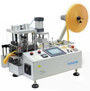 Automatic Tape Cutting Machine with Punching Hole and Collection Device pictures & photos