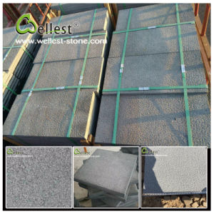 China Hainan Grey Bluestone/Basalt Bush Hammered Basalt Tile pictures & photos