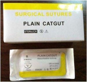 Surgical Suture, USP0 Plain Catgut pictures & photos
