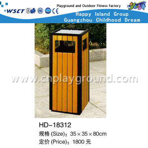 Outdoor Square Recycal Wooden Dust Bin for Park (HD-18312) pictures & photos