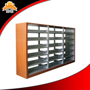 Double Side Library School Metal Book Rack pictures & photos