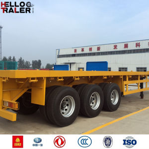 40 Tons 3 Axle 40FT Flatbed Trailer for Sale pictures & photos