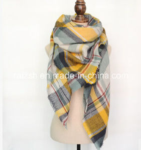 100% Polyester Checked Throw for Keeping Warmth pictures & photos