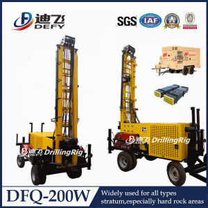 All-Hydraulic Operated Water Well Drilling Rig with Mud Pump/Air Compressor pictures & photos