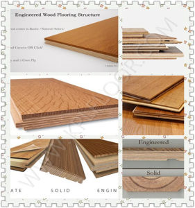 Engineered Flooring Type and Technics Wire Brushed Engineered Wood Flooring pictures & photos