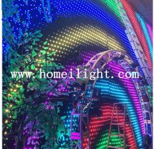 2015 LED Video Curtain Cloth Vision Curtain Cloth pictures & photos