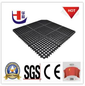 Anti-Slip Interlocking Rubber Matting for Workshop pictures & photos