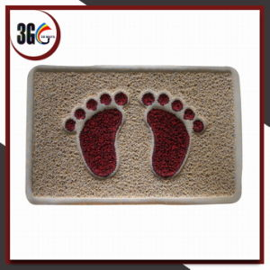 Double Mix Fresh Color Net Backing Feet Design Door Mat pictures & photos