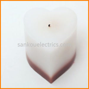 Colorful Burning Wax Candle/Heart Shape Color Changing Candle as Valentine′s Gift