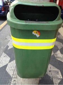 Fluorescent Yellow Reflective Tape for Trash Can pictures & photos