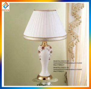 Home Decoration Ceramic Table Lamp with Fabric Lampshade pictures & photos