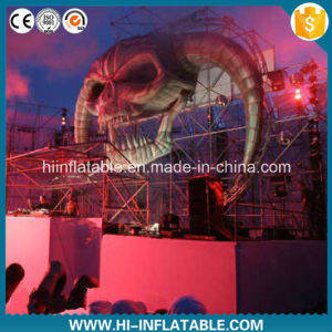 Hot Sale Stage Inflatable Skull Decoration pictures & photos