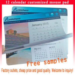 Calendar Mouse Pad with 12 Pages for Advertising Products pictures & photos