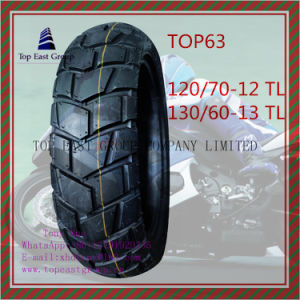 Tubeless, ISO Nylon 6pr Motorcycle Tyre 120/70-12tl, 130/60-13tl pictures & photos
