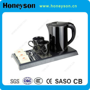Hotel Room Cordless Electric Kettle with Tray Set pictures & photos