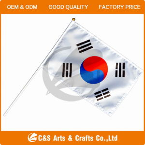 Custom Hand Waving Flag, South Korean Hand Flag pictures & photos