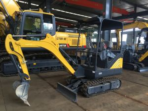 CT18-9ds Multifunction Mini Excavator with Half Zero Tail, Cabin, Retractable Chassis pictures & photos