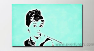 Mordern Oil Painting Pop Art Audrey Hepburn (PO-004) pictures & photos