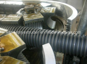 PE/PP/PVC Single Wall Corrugated Pipe Extrusion Machine Line pictures & photos