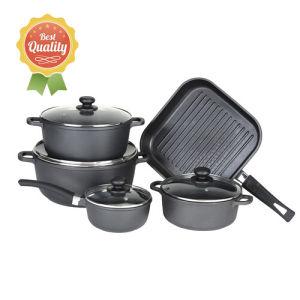9PCS Pressed Aluminum Non-Stick Cookware Set pictures & photos